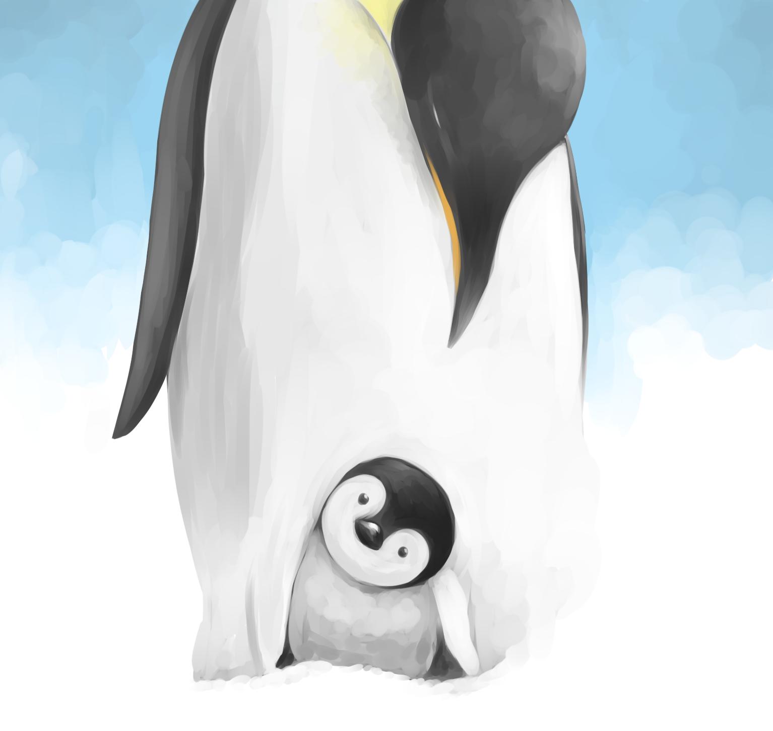 皇帝ペンギンただいま